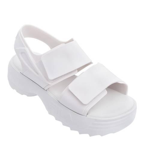 Melissa + FILA White Fila Sandals