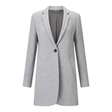 Jigsaw Grey Welt Pocket Wool Blend Coat