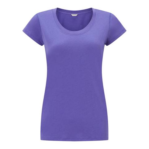 Jigsaw Purple Pima Cotton T-Shirt
