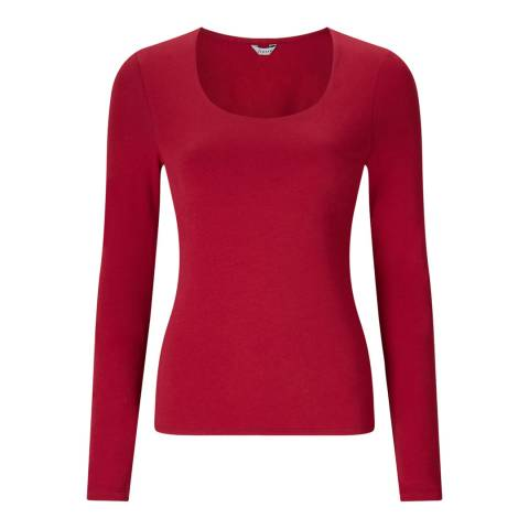 Jigsaw Red Double Front Scoop Top