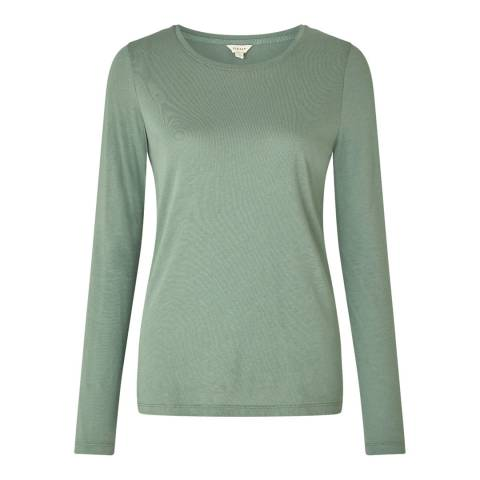Jigsaw Green Pima Cotton T-Shirt