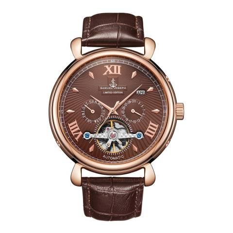 Samuel Joseph Men's Rose/Brown Automatic Watch