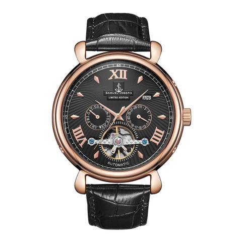 Samuel Joseph Men's Rose/Black Automatic Watch