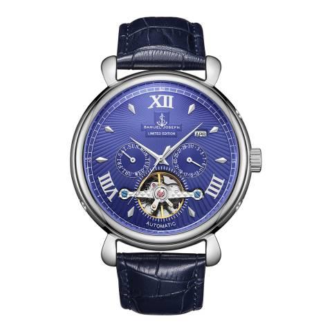 Samuel Joseph Men's Blue Automatic Watch