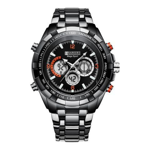 Barkers of Kensington Men's Black Mega Sport Black Watch