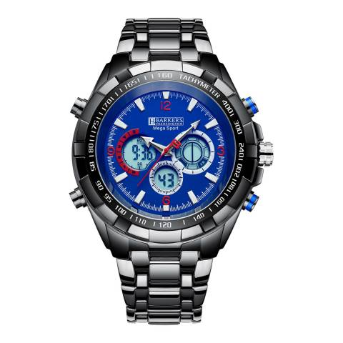 Barkers of Kensington Men's Blue Mega Sport Blue Watch