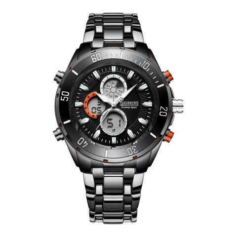 Barkers of Kensington Men's Black Premier Sport Black Watch