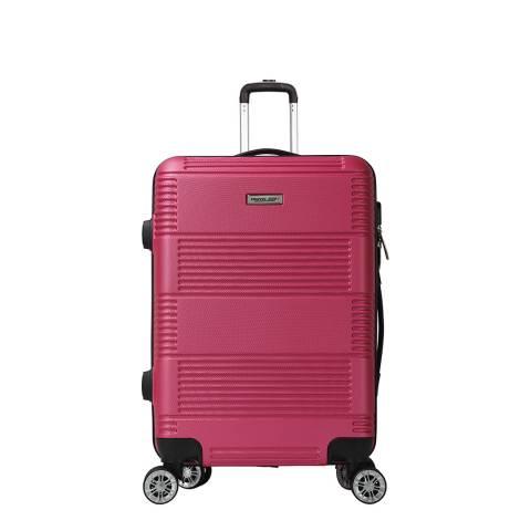 Travel One Fuschia 8 Wheel Cabin Suitcase 57cm
