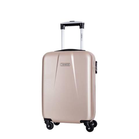 Cabine Size Beige 4 Wheel Cabin Suitcase 46cm