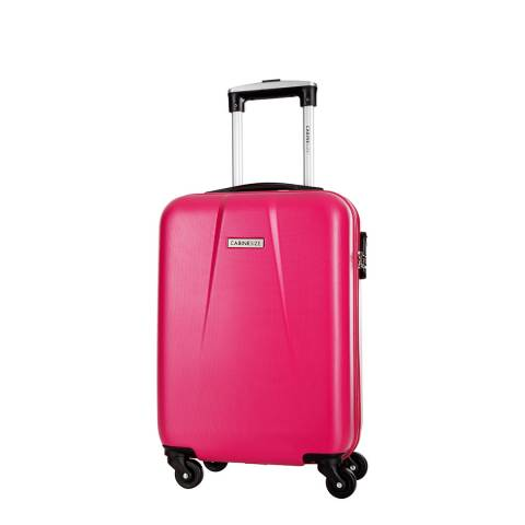 Cabine Size Fuschia 4 Wheel Cabin Suitcase 46cm