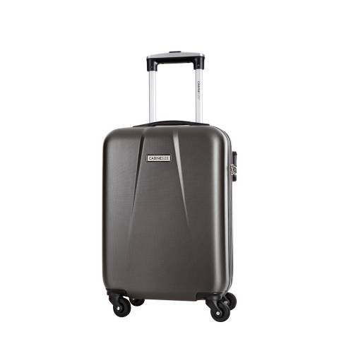 Cabine Size Grey 4 Wheel Cabin Suitcase 46cm