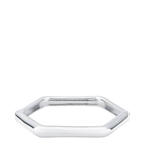 Karen Millen Silver Hexa Link Hinge Bangle