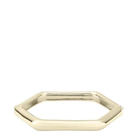 Karen Millen Soft Gold Hexa Link Hinge Bangle