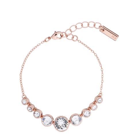 Karen Millen Rose Gold Crystal Flow Bracelet