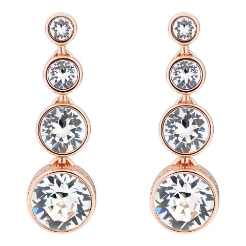 Karen Millen Rose Gold Crystal Flow Drop Earrings
