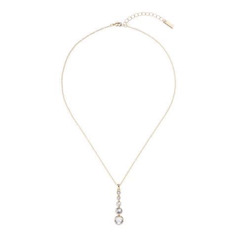 Karen Millen Soft Gold Crystal Flow Pendant Necklace