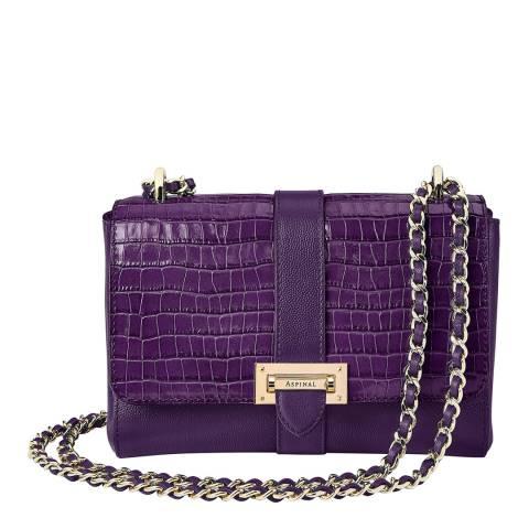 Aspinal of London Amethyst Kaviar Lottie Bag