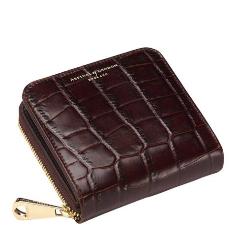 Aspinal of London Brown Mini Amazon Continental Purse