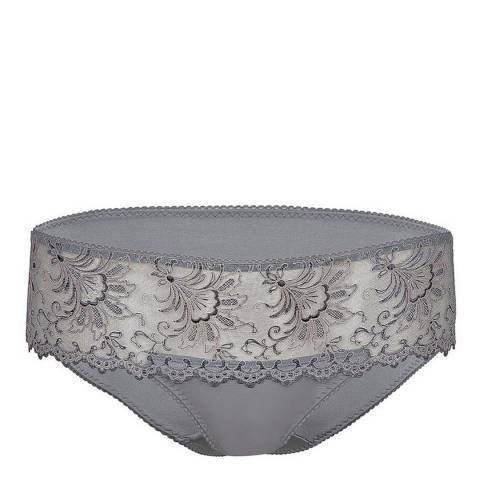Le Vernis Graphite Lace Hipster Brief