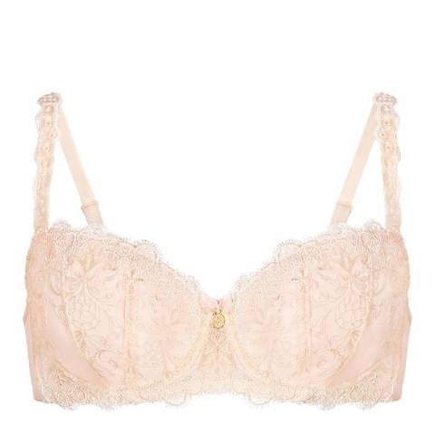 Le Vernis Powder Pink Padded Balcony Bra