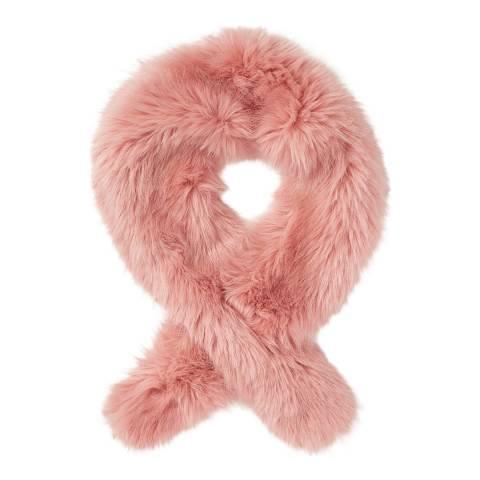 Jigsaw Pale Pink Faux Fur Scarf