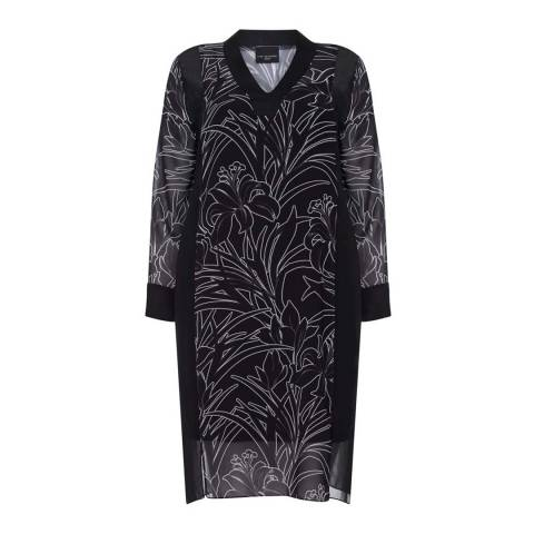 Live Unlimited Black/White Relaxed Floral Dress