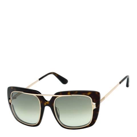 Tom Ford Women's Tortoise/Green Sunglasses 52mm