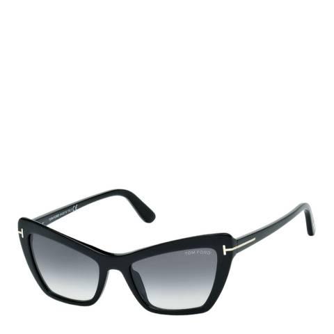 Tom Ford Women's Shiny Black/Grey Sunglasses 55mm