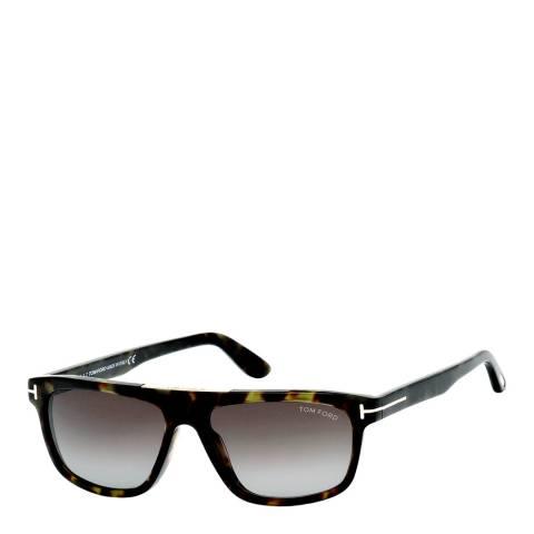 Tom Ford Men's Havana/Green Tom Ford Sunglasses 57mm