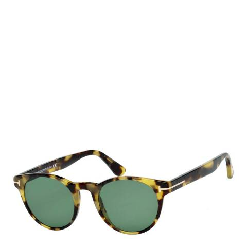 Tom Ford Men's Havana/Green Tom Ford Sunglasses 49mm