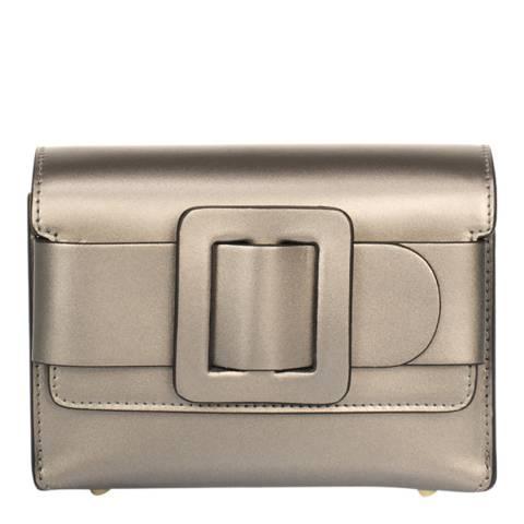 Giulia Massari Silver Leather Crossbody Bag