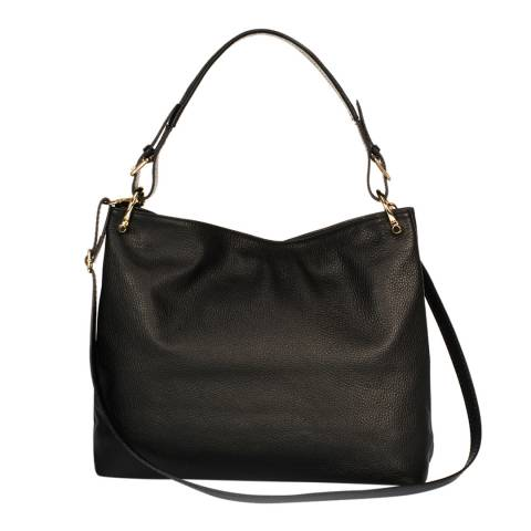 Lisa Minardi Black Leather Top Handle Bag