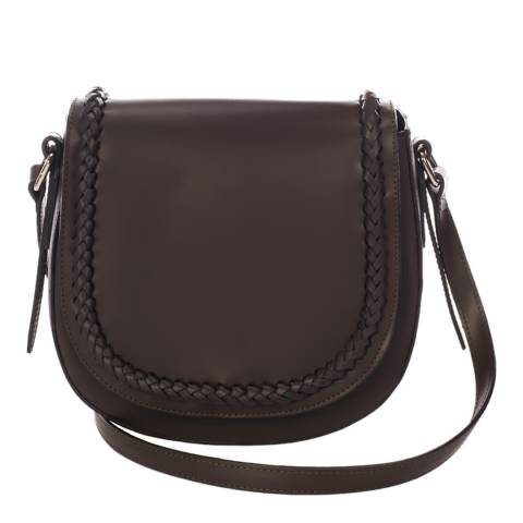 Giulia Massari Brown Leather Crossbody Bag