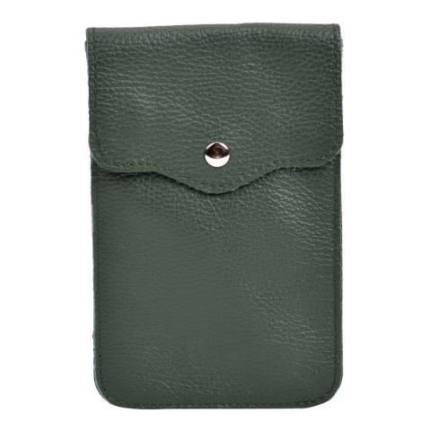 Isabella Rhea Green Leather Crossbody Bag