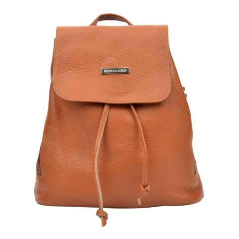 Renata Corsi Cognac Leather Backpack