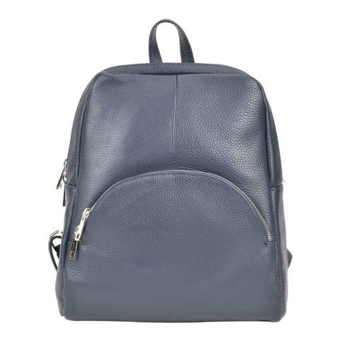 Renata Corsi Navy Leather Backpack