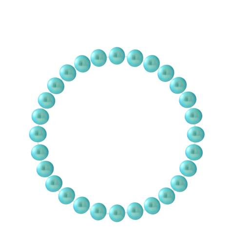 Manufacture Royale Turquoise Blue Pearl Bracelet