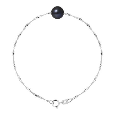 Manufacture Royale Black Tahitian Style Pearl Bracelet 7-8mm