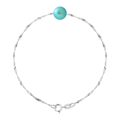 Manufacture Royale Turquoise Pearl Bracelet 7-8mm