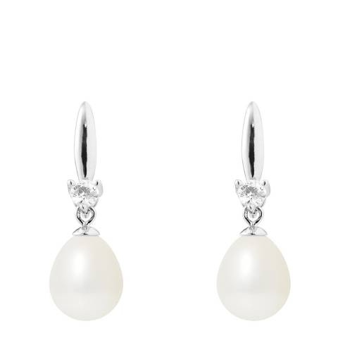 Manufacture Royale Natural White Teardrop Pearl Earrings