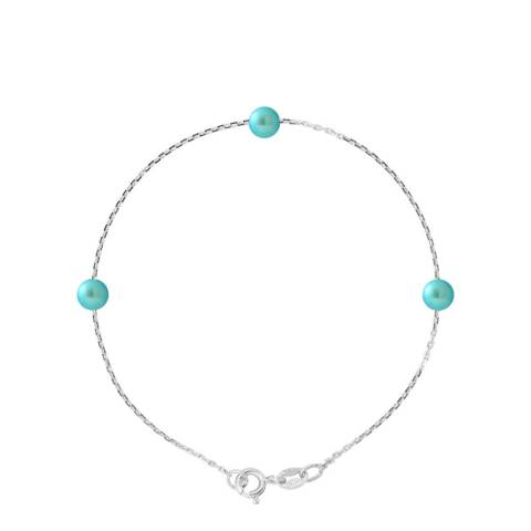 Manufacture Royale Turquoise Three Pearl Bracelet 5-6mm