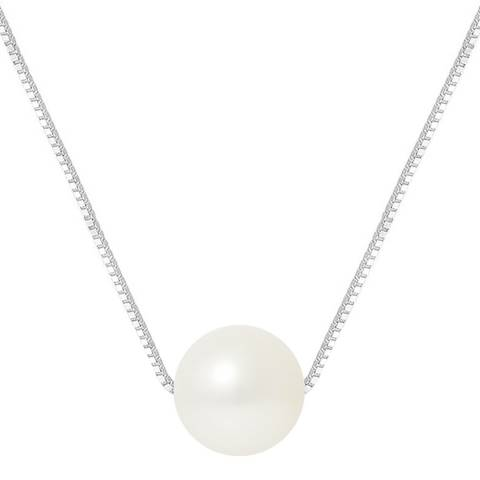 Manufacture Royale Natural White Round Pearl Necklace 9-10mm