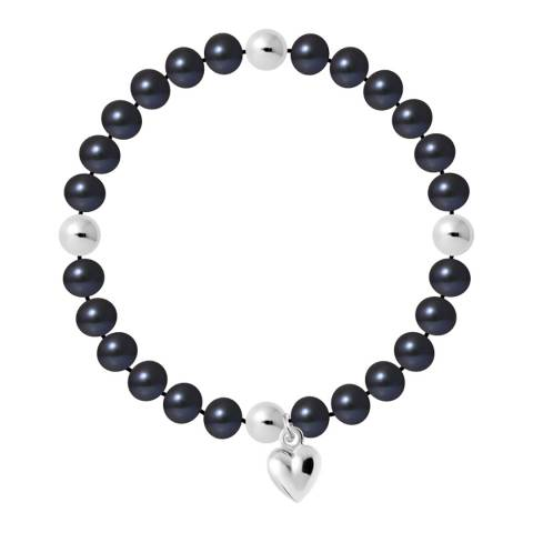 Manufacture Royale Black Tahitian Style Heart Trinket Bracelet