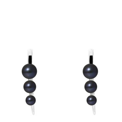 Manufacture Royale Black Tahitian Style Pearl Arrow Earrings