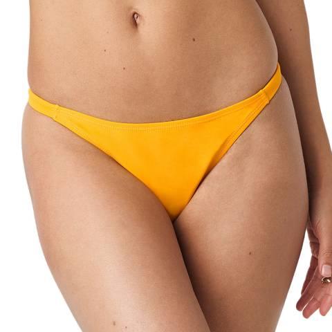 NA-KD Yellow Side Strap Bikini Panty