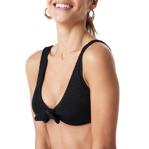 NA-KD Black Knot Tie Bikini Top