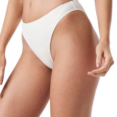 NA-KD White Ribbed Sporty Bikini Bottom