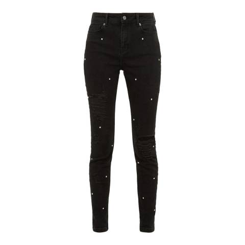 Ted Baker Black Diamante Skinny Jeans