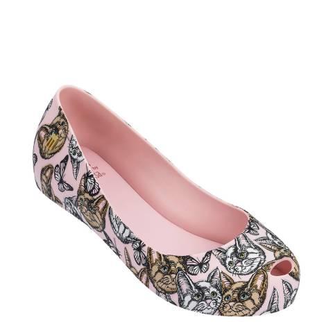 Mini Melissa Blush Cat Kids Ultragirl 3D Shoe