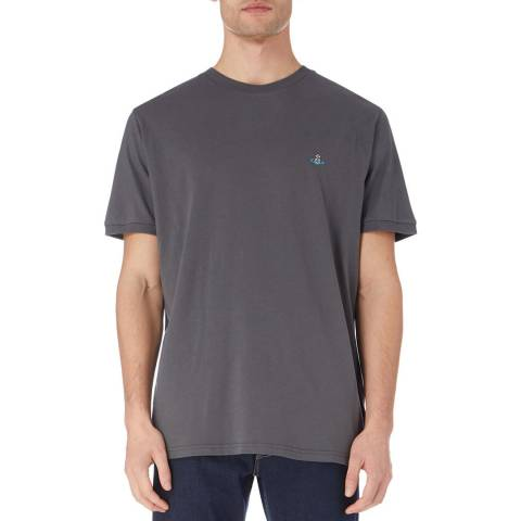 Vivienne Westwood Gunmetal Oversized Cotton Logo T-Shirt